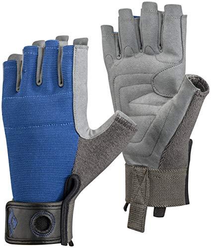 Black Diamond Crag Half Finger Guantes de Escalada, Unisex-Adult, Azul, L