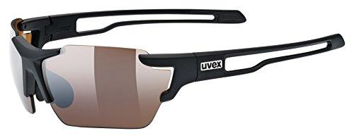 Uvex Sportstyle 803 Small colorvision Gafas de Sol Rectangular Deporte - Gafas de Sol (negro mate)